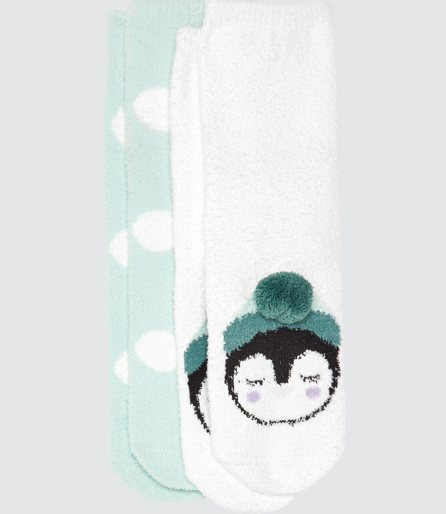 Lot*2 Chaussettes Cocooning Pingouin