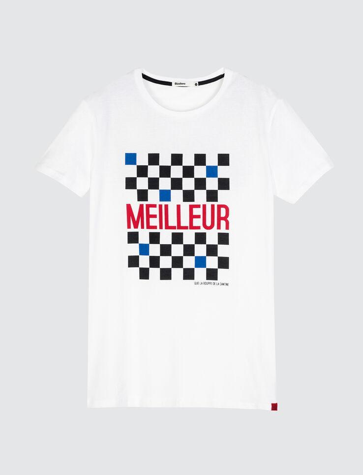 """T-shirt à damier message """"Meilleur"""""""