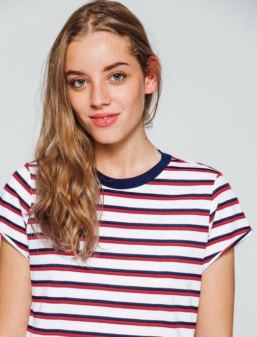 T-shirt à rayures  femme
