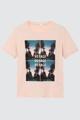 T-shirt imprimé photoprint palmiers