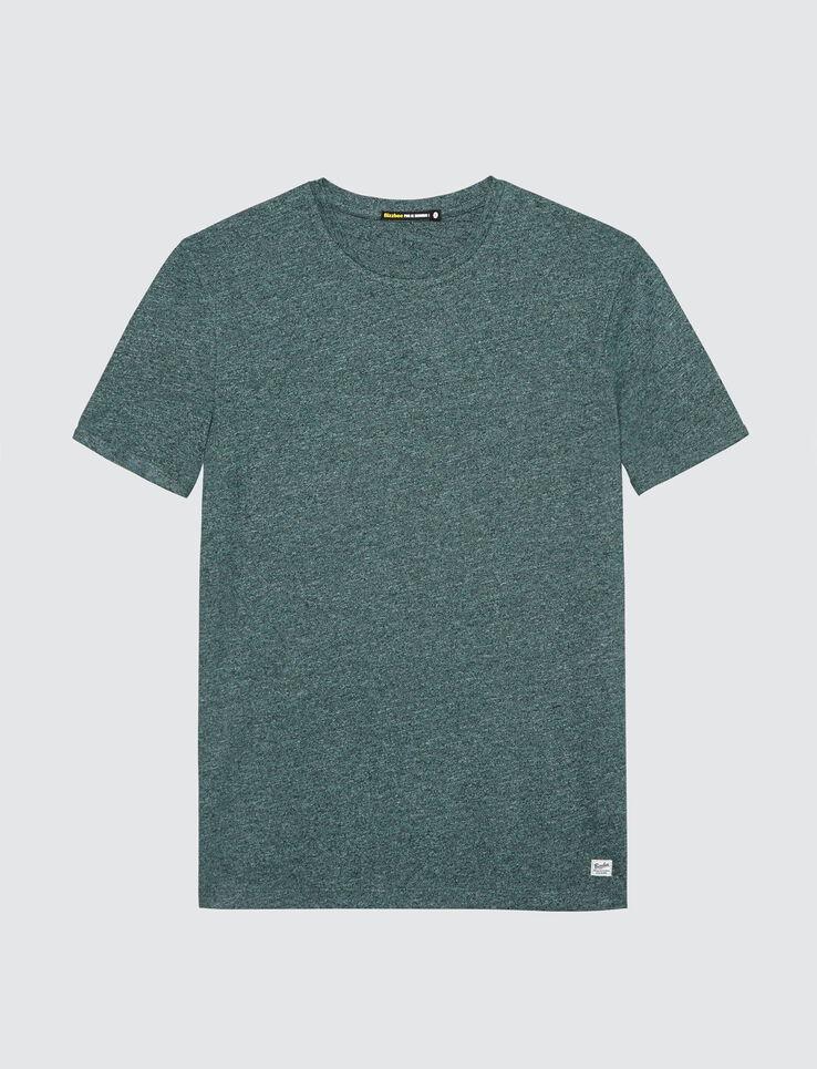 T-shirt uni mouliné