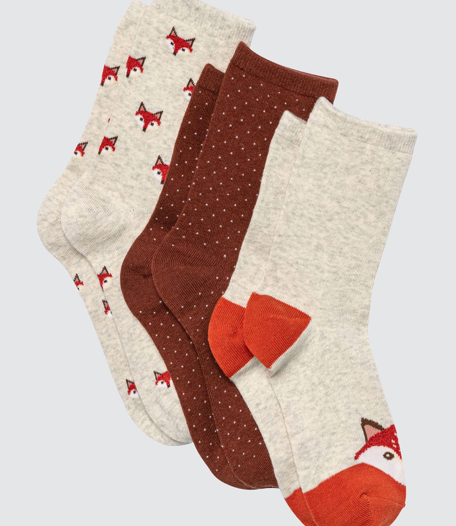 Lot de 3 chaussettes Chat