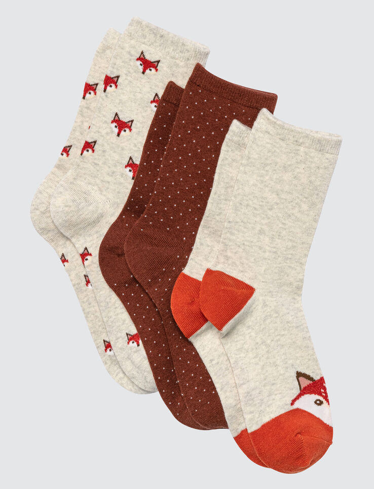 Lot de 3 chaussettes Chat
