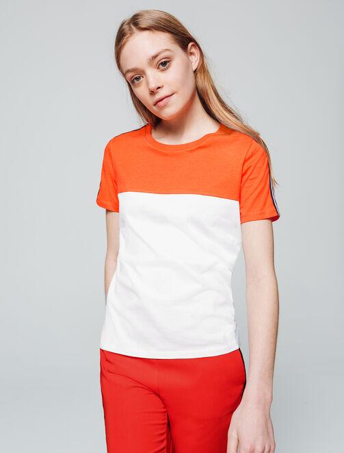 T-shirt bi-colore femme