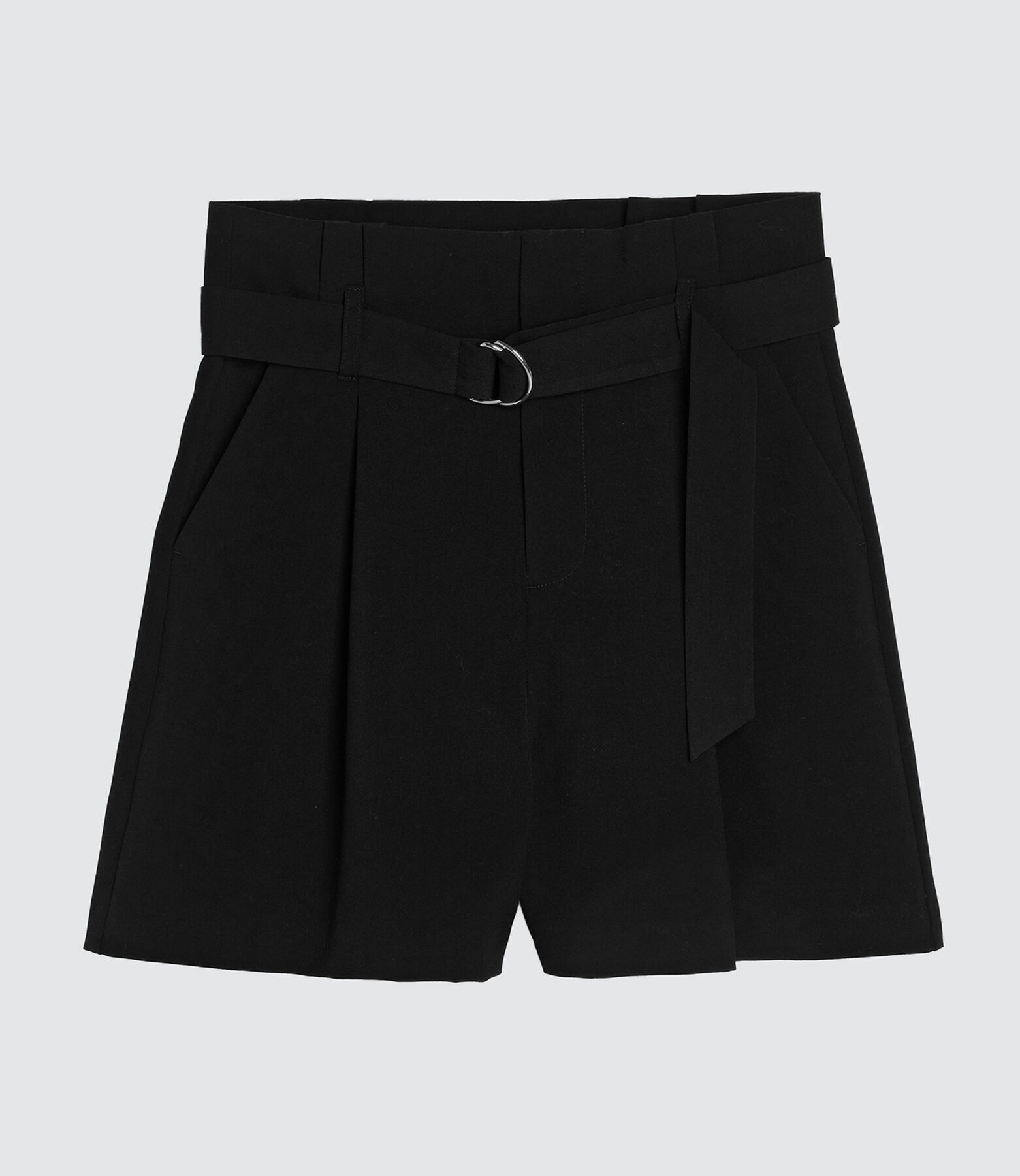 short à pinces noir