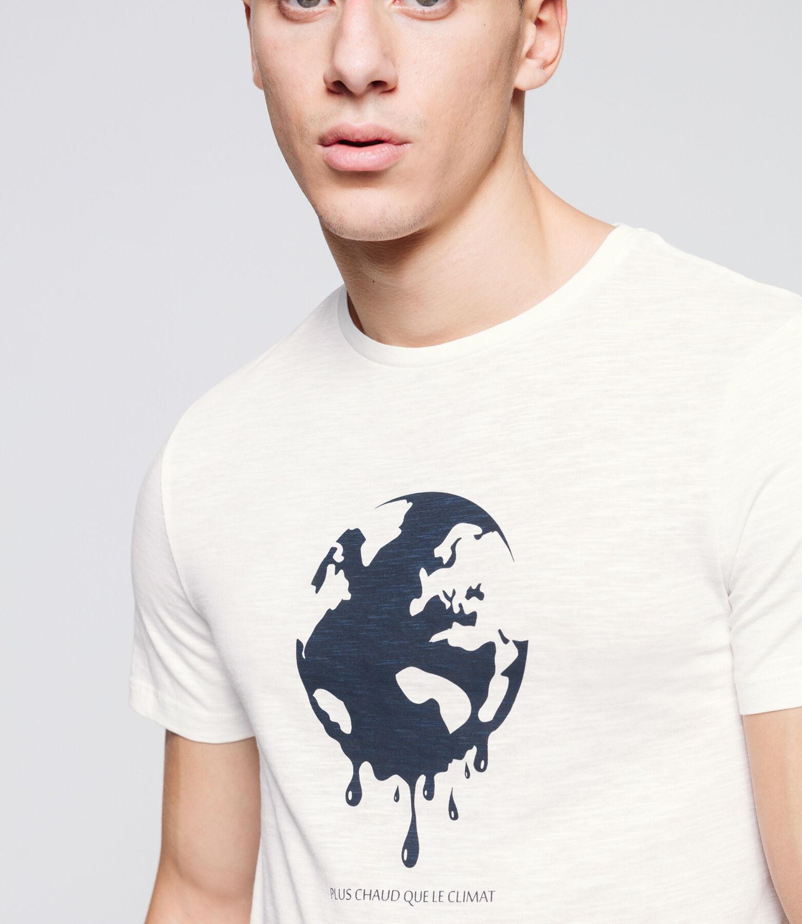 """T-shirt en coton bio """"Plus chaud que le climat"""""""
