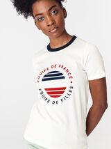"""T-shirt """"équipe de France, équipe de filles"""""""