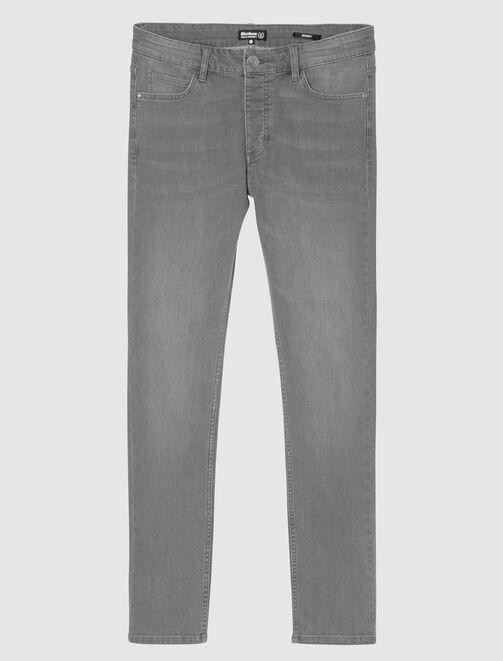 Jean skinny basique gris homme