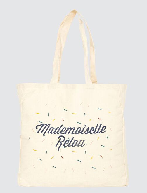 "Tote bag message ""Mlle Relou"" femme"