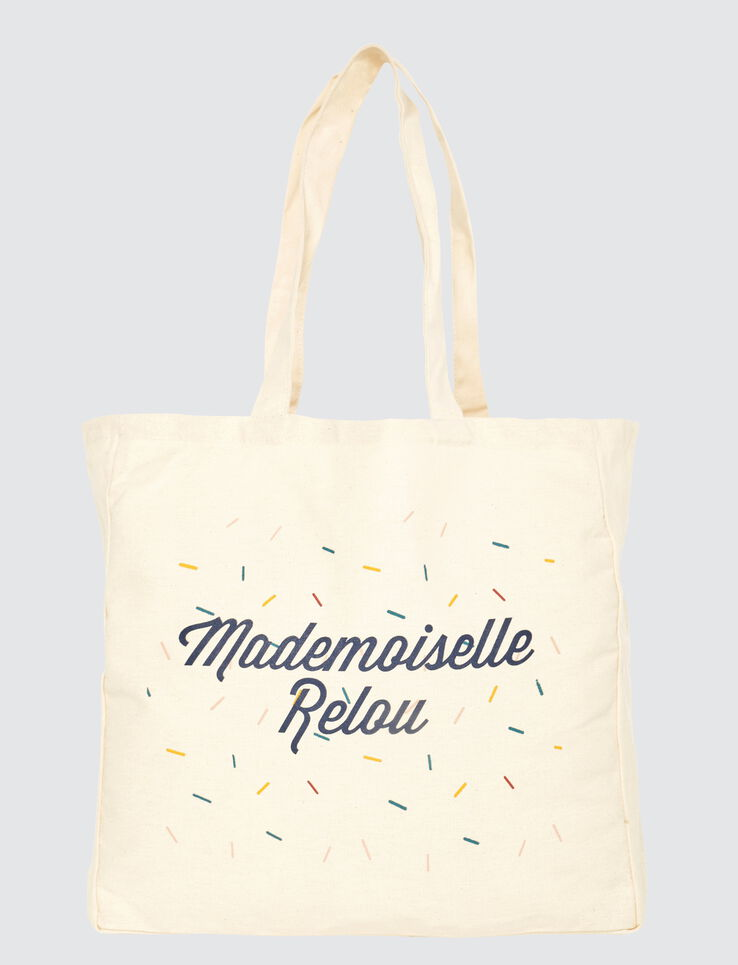 "Tote bag message ""Mlle Relou"""