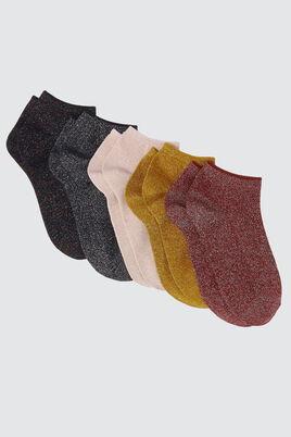Lot*5 Socquettes Lurex