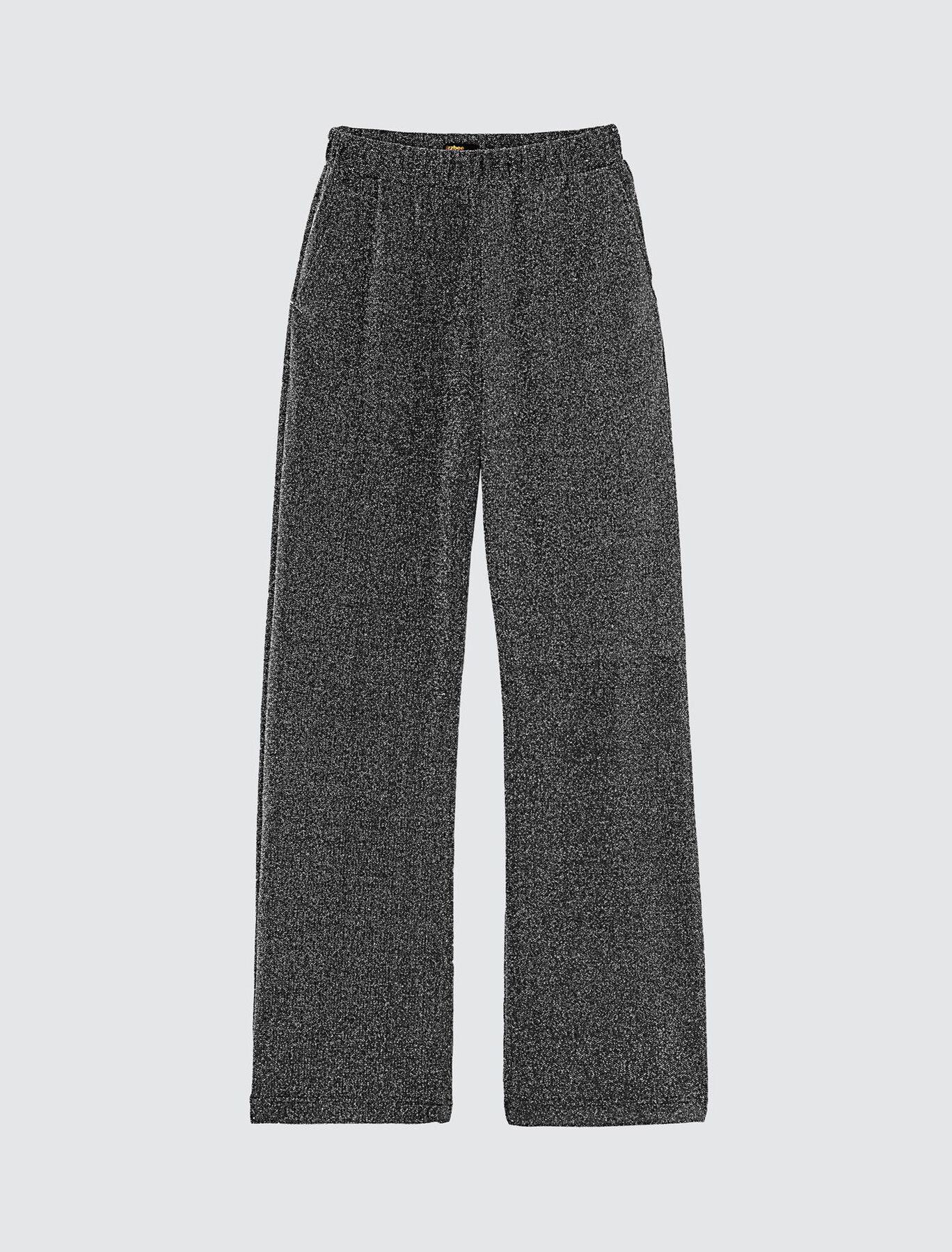 Pantalon Large Argenté