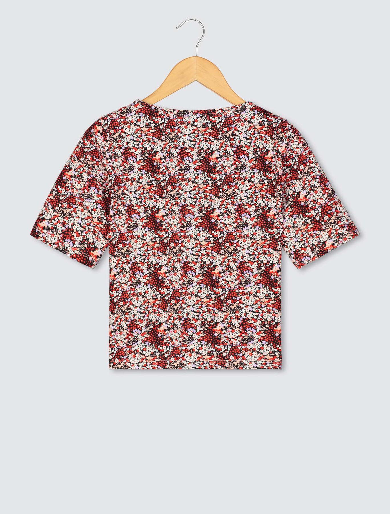 T-shirt à coulisse imprimé