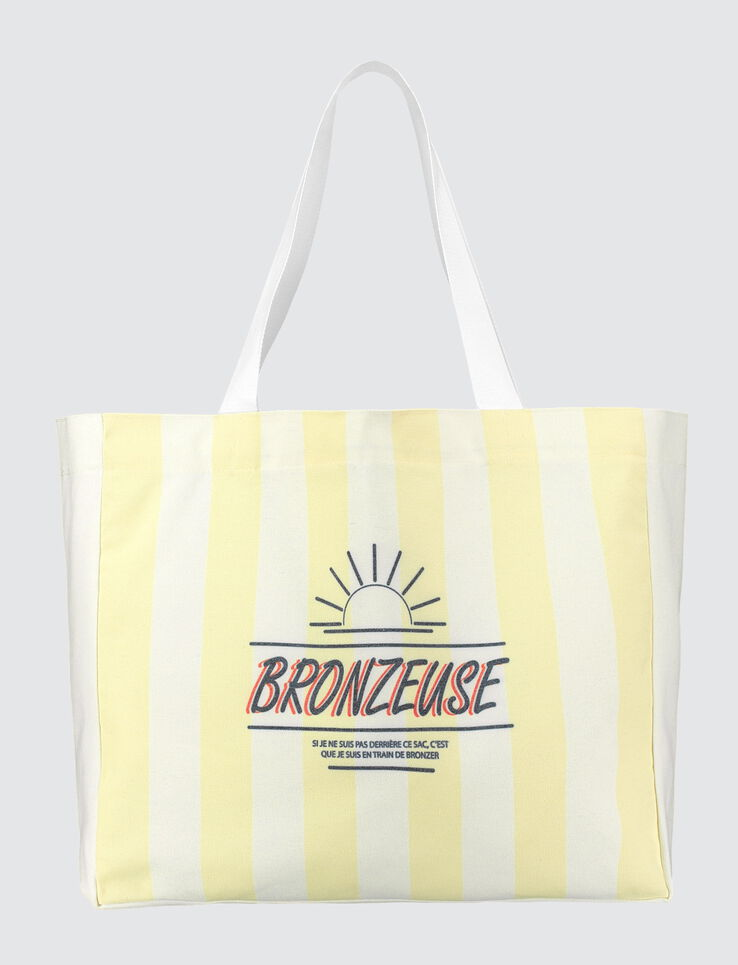 "Sac de Plage message ""bronzeuse"""