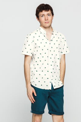 Chemise brodé all over manches courtes