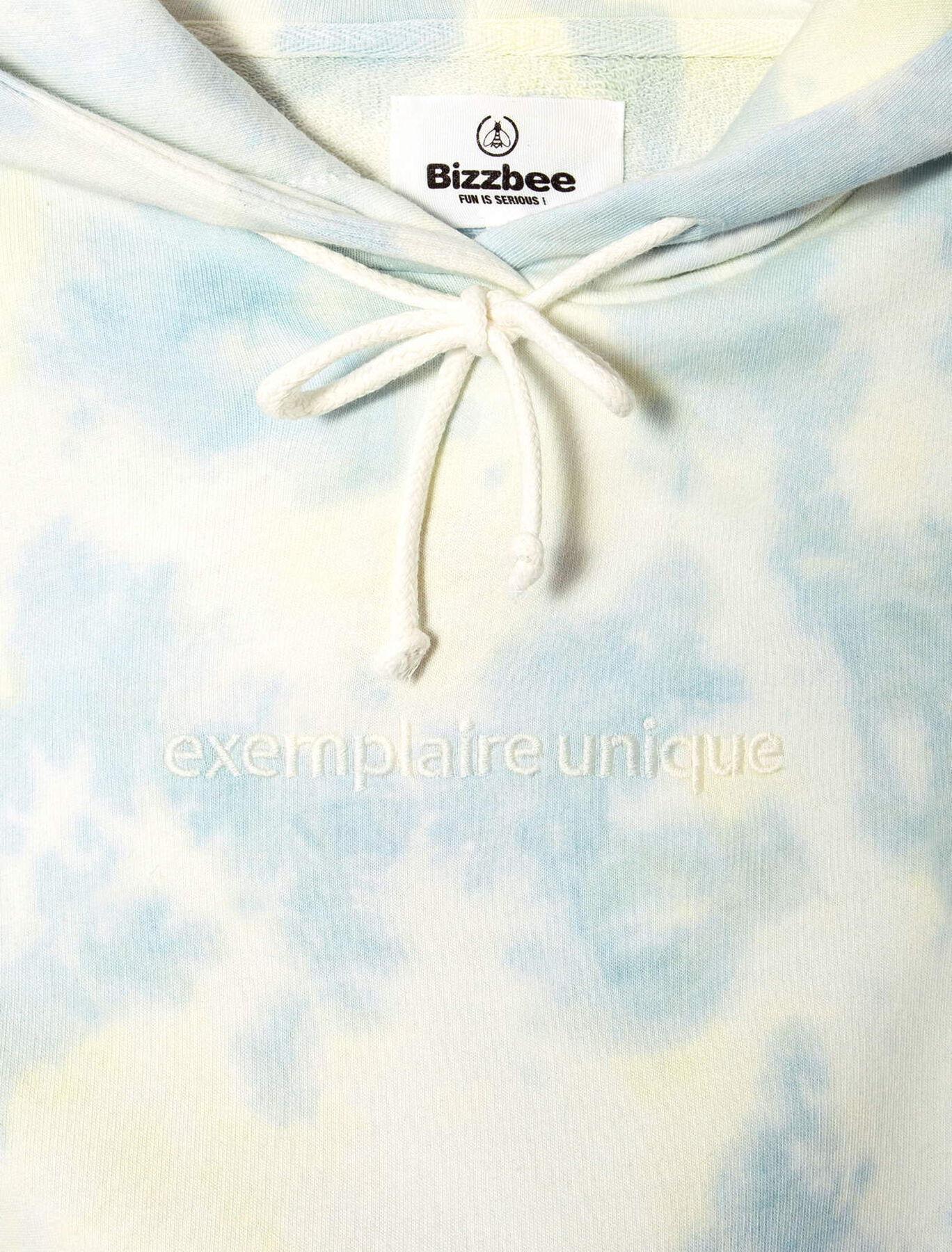 Sweat tie and dye brodé