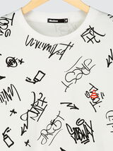 T-shirt imprimé graffiti