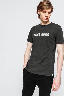 T-shirt uni avec print devant