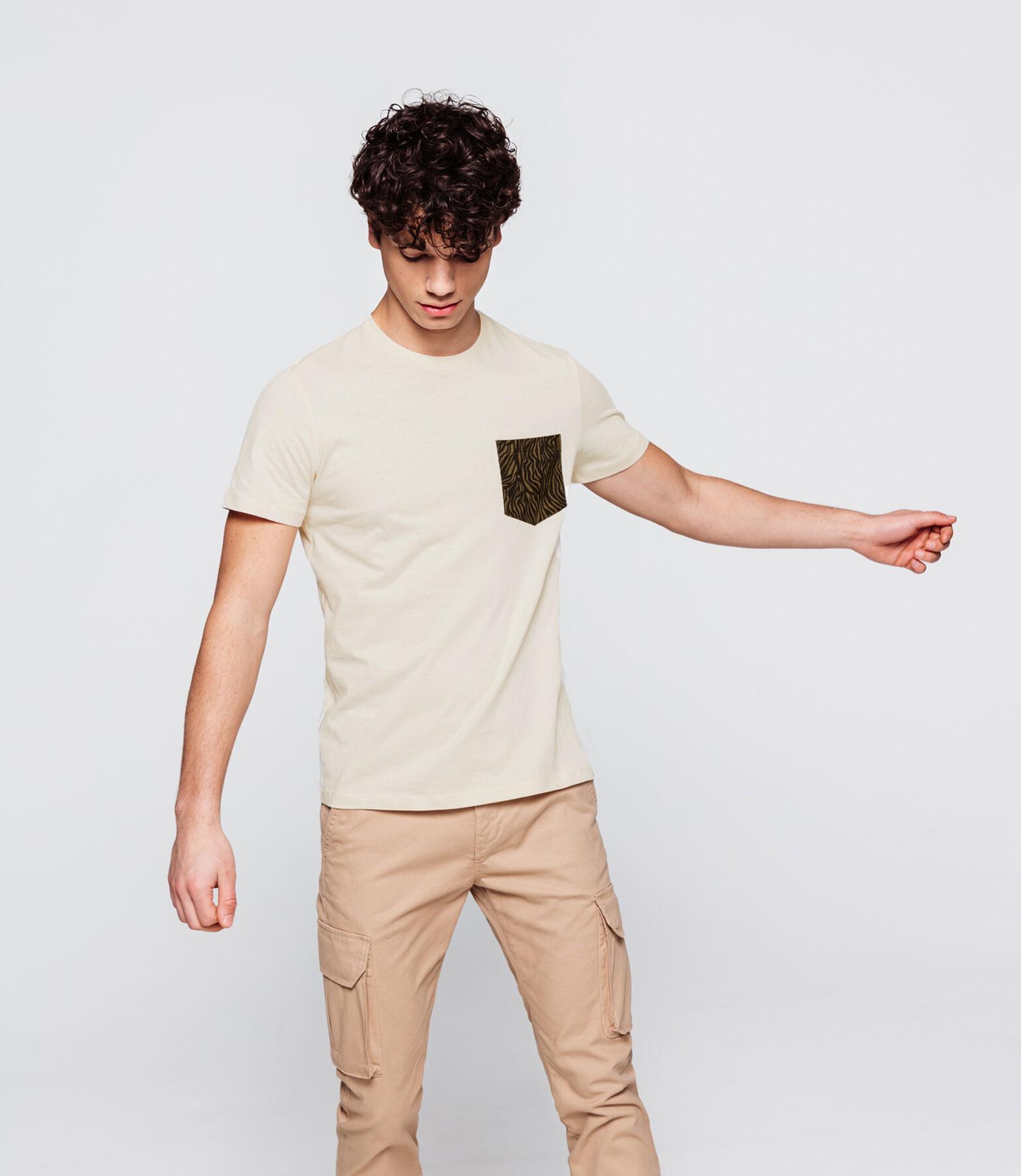 T-shirt avec poche imprimée animal
