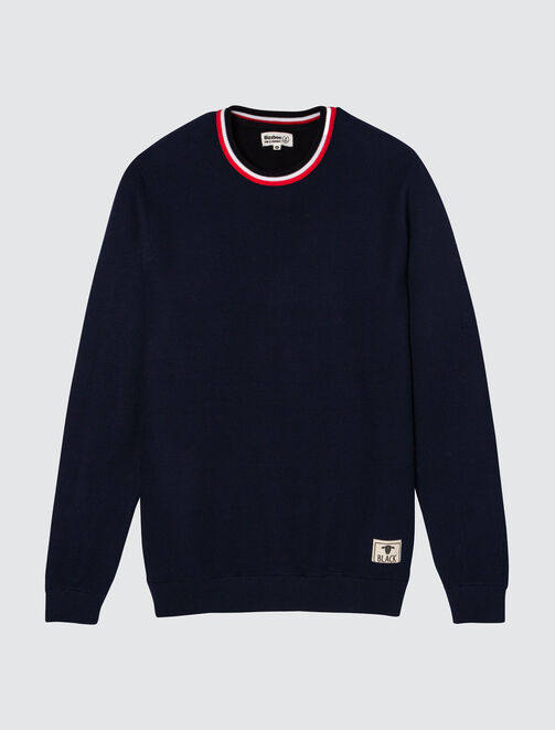 Pull col rayé  homme