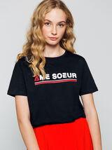 """T-shirt message """" Âme Sœur"""""""