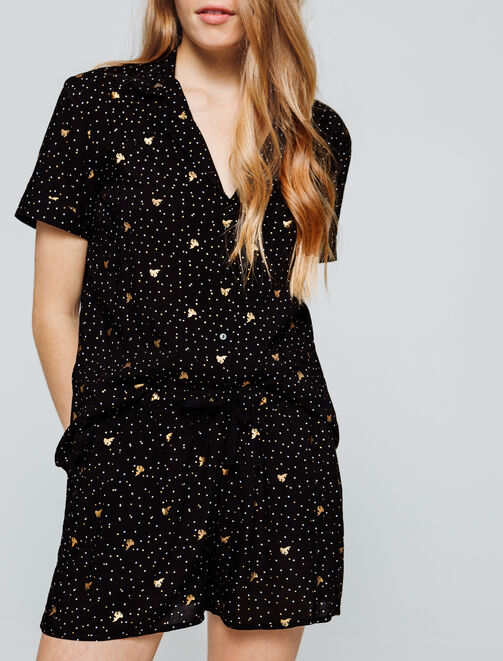 Pyjama chemise short femme