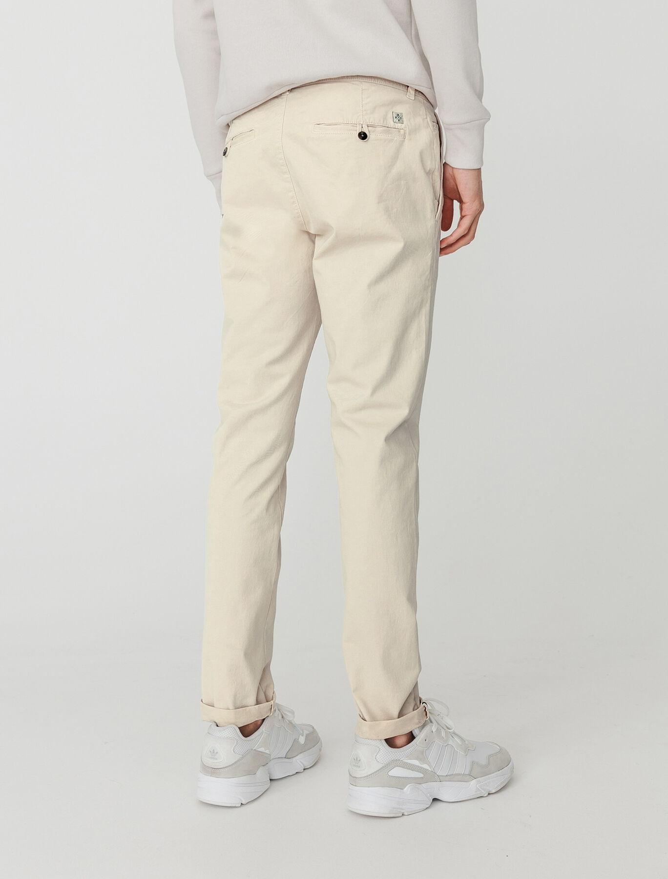 Pantalon chino ajusté en coton bio