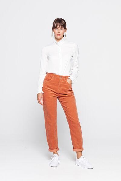 Pantalon Mom en Velours