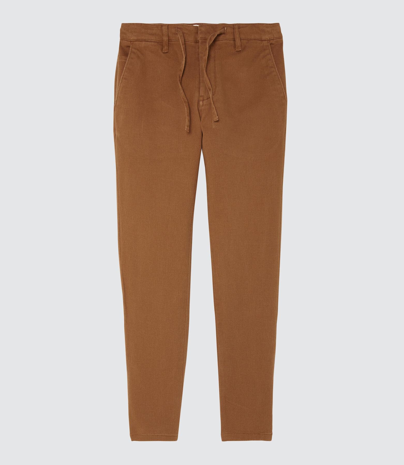 Pantalon avec coulisse taille, bas droit
