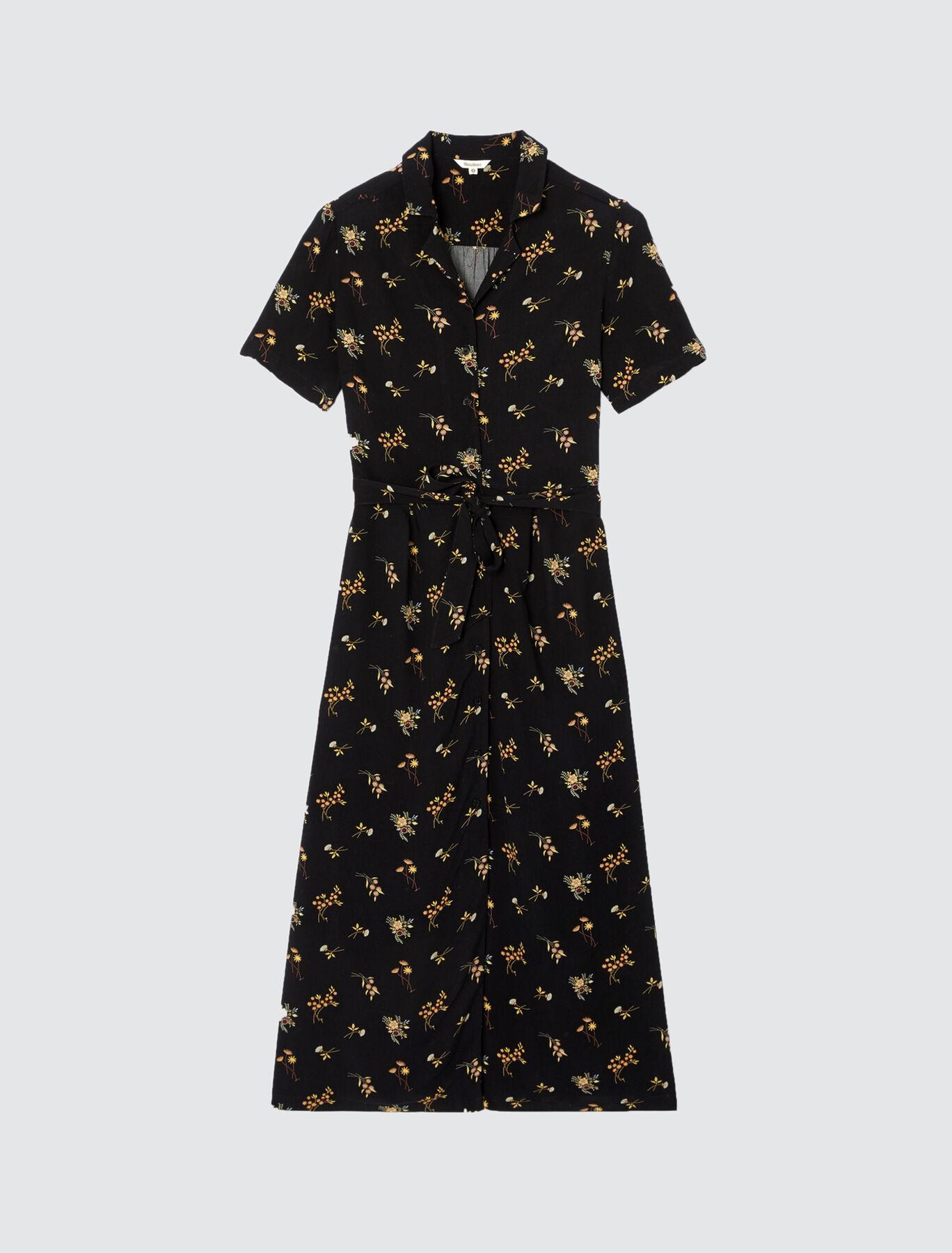 Robe Longue Imprimée Boutonnée