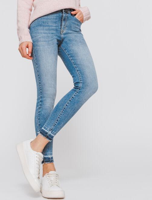 Jean skinny cropped femme