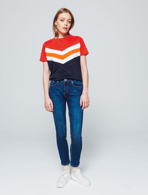 T-shirt colorblock  femme