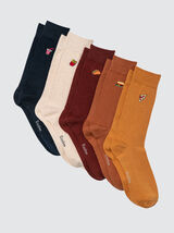 Lot de 5 Chaussettes Colorama Junk Food