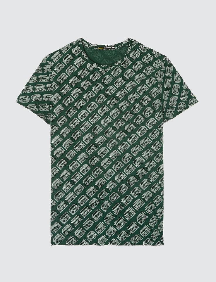 T-shirt print all over ghetto blaster
