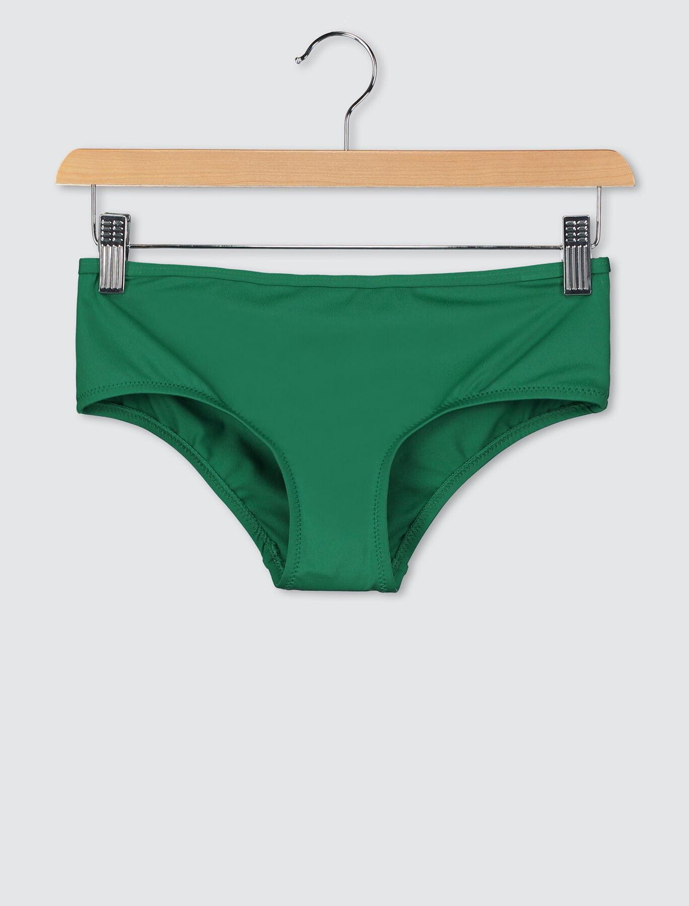 Bas de maillot de bain culotte hipster unie