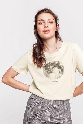 """T-shirt lune """"lunatic"""" réalisé en polyester recylc"""