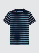 T-shirt à rayures multicolores