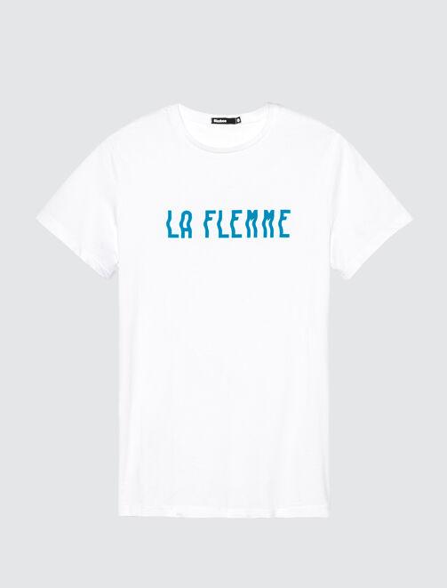 T-shirt message LA FLEMME homme