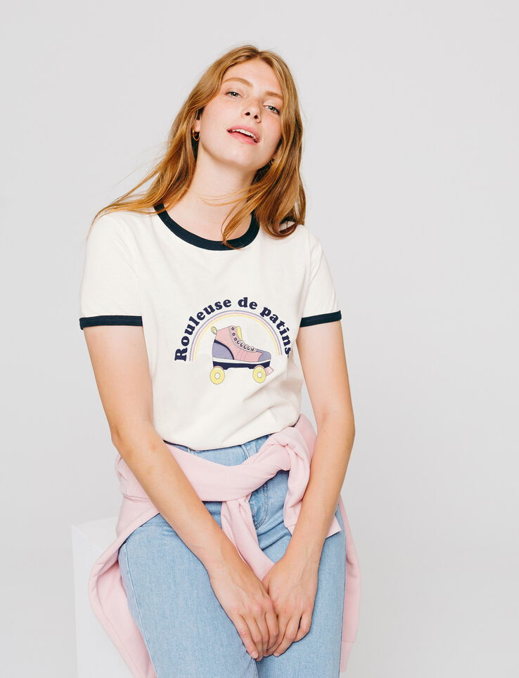 """T-shirt humoristique """"ROULEUSE DE PATINS"""""""