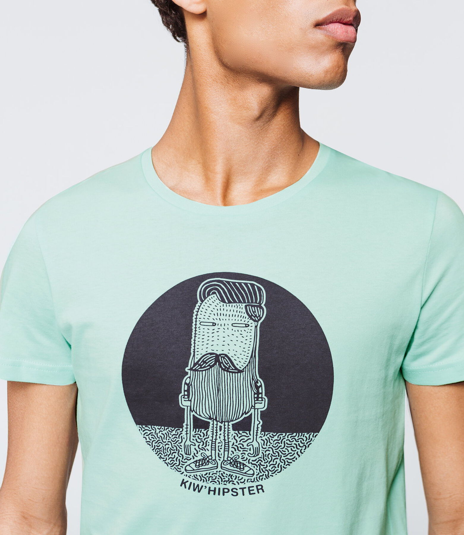 "T-shirt imprimé message ""Kiw'hipster"""