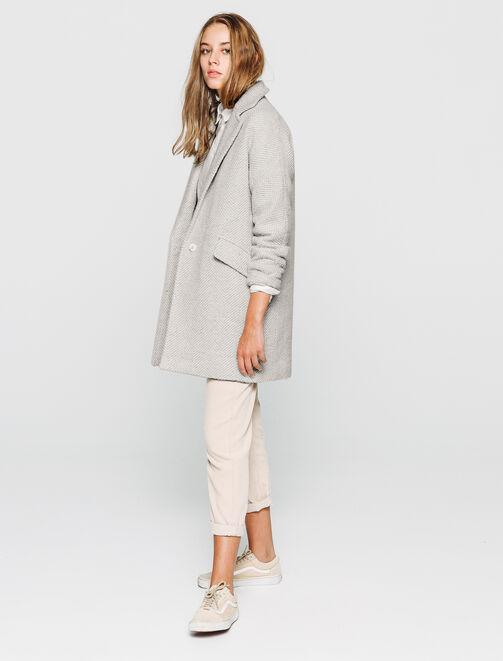 manteau lainage chaud - laine majoritaire femme