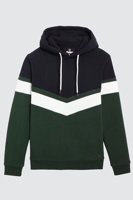 Sweat enfilé colorblock V