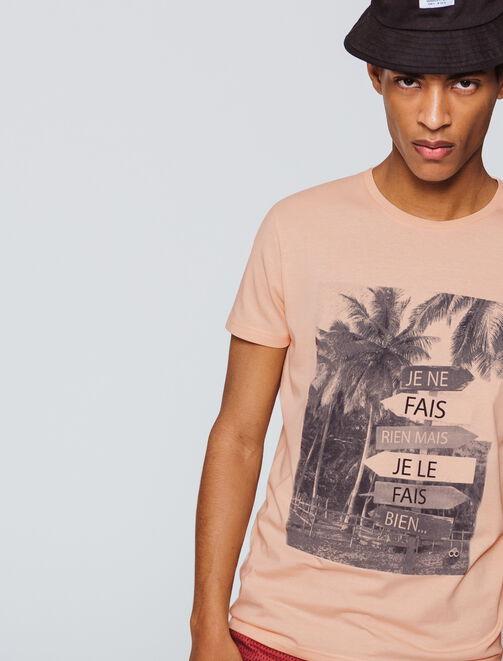 T-shirt photoprint Je ne fais rien mais je le fais homme