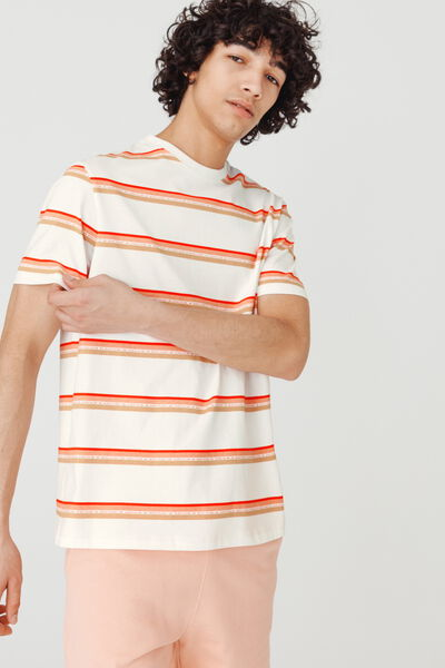 T-shirt rayures avec texte