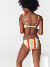 Bas de maillot de bain culotte rayures