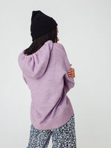 Sweat tricot en polyester recyclé