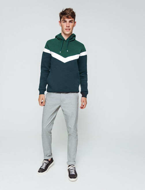 Sweat enfilé neo color-block homme