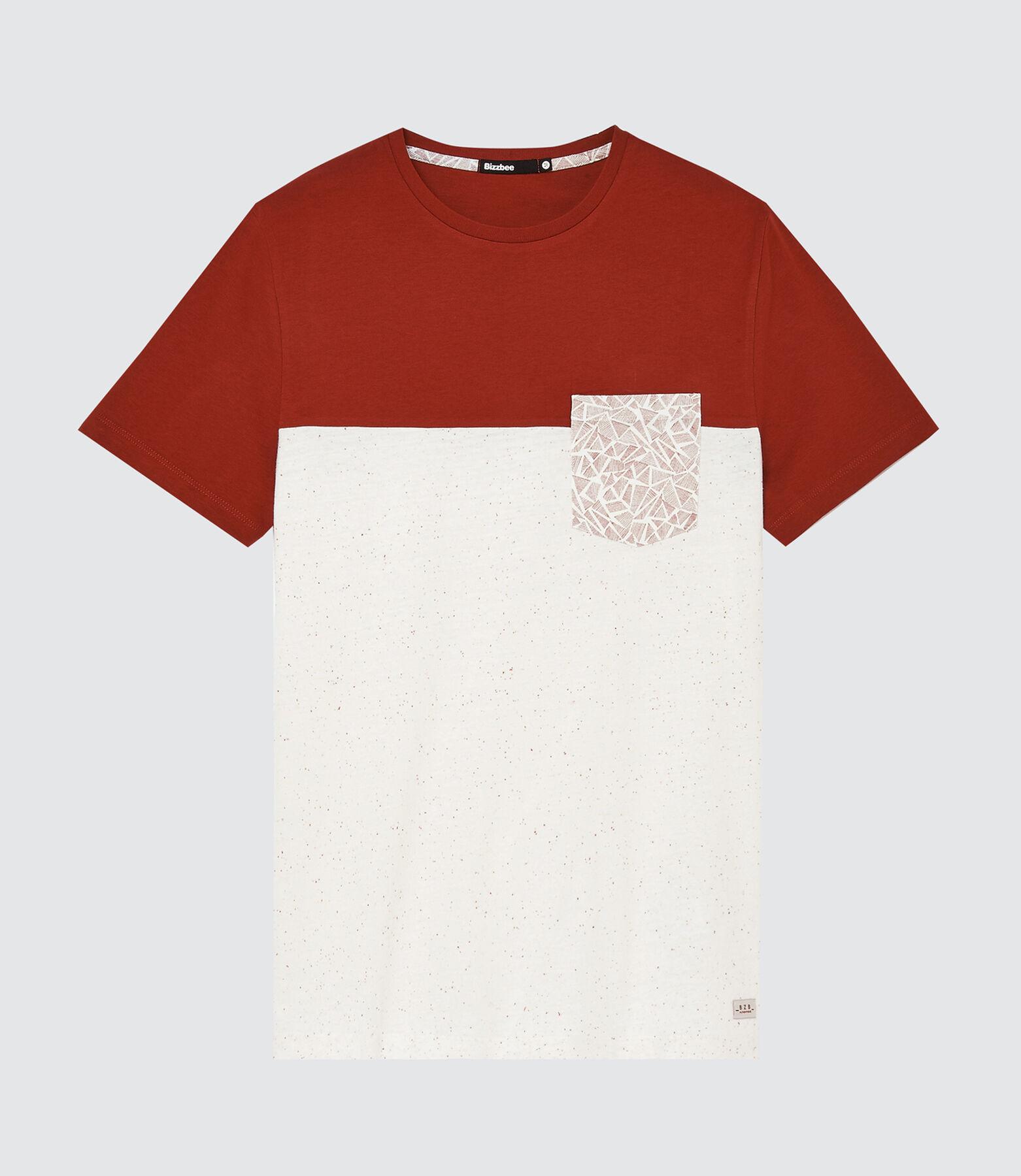 T-shirt colorblock avec poche imprimée