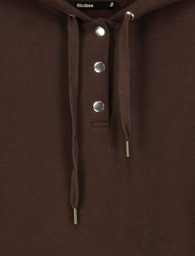 Robe sweat à pressions en polyester recyclé