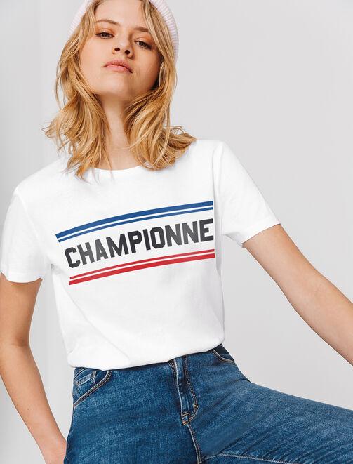 T-shirt championne Coupe du Monde femme